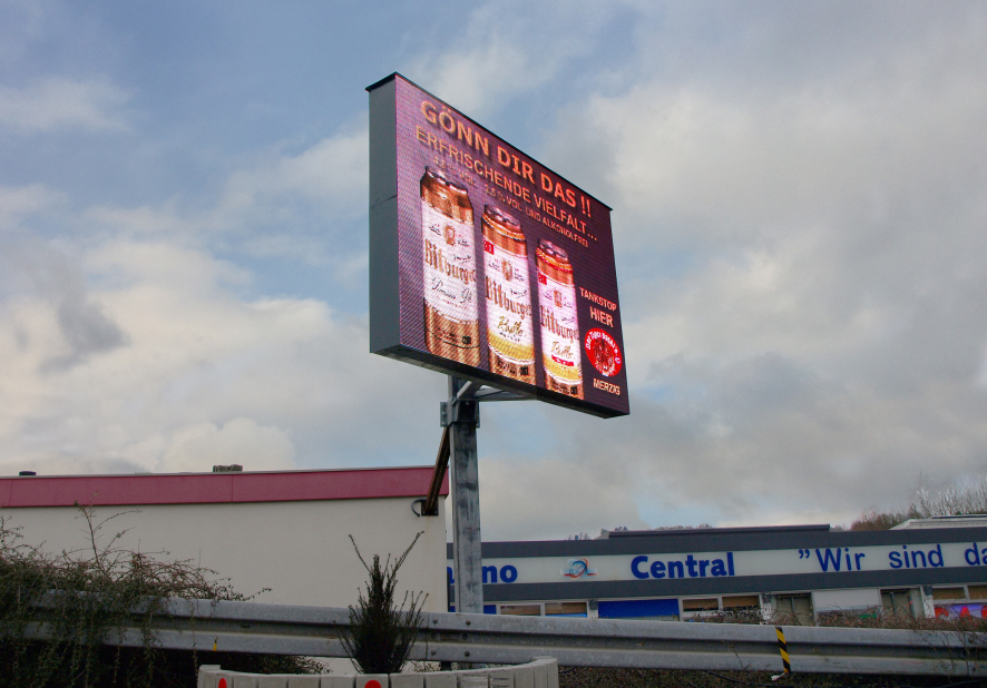 Advertising on LED walls