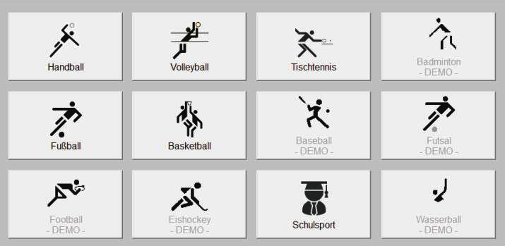First, select your sport from the main menu