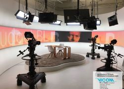 Background in TV-Studio
