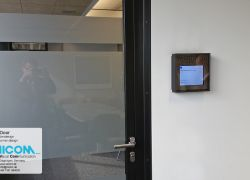 Digital door sign with access authorization