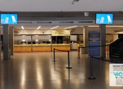 Information displays in the congress center
